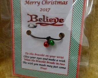 Santas Reindeer Sleigh Metal Jingle Bell Polar Express Style Stocking Filler 40m