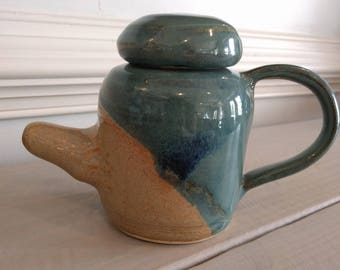 SALE Tea for One: Tall Single Serving Teapot in Teal