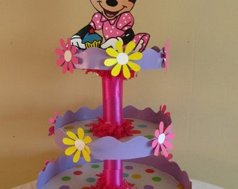 Minnie Mouse Birthday Personalized Cupcake Stand/Centerpiece