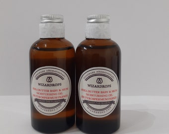 SHEA OIL for mum and baby: healing, soothing, calming, rich and very moisturising.