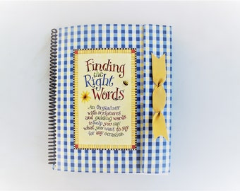 Greeting card organizer etsy vintage greeting card organizer finding the right words an organizer with scriptures and guiding words to help you say what you want m4hsunfo
