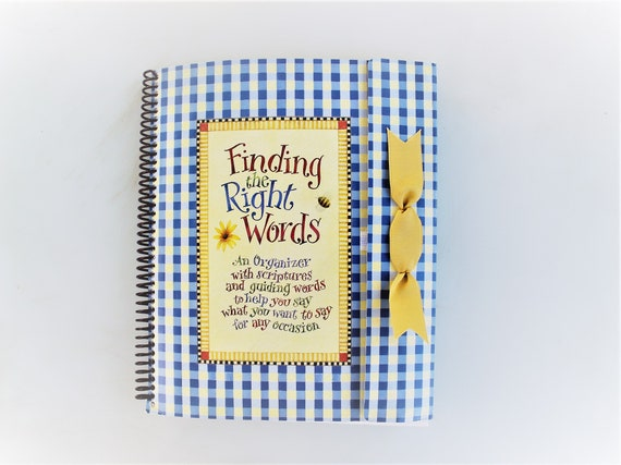 Vintage greeting card organizer finding the right words an etsy image 0 m4hsunfo