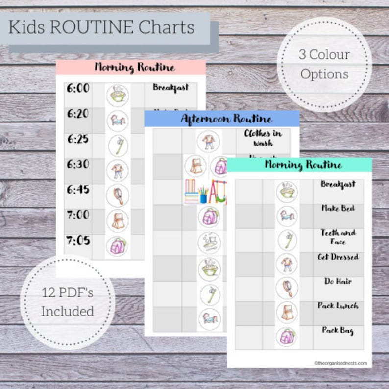 Kids Routine Charts  Daily Routine Charts  Morning Routine  image 0