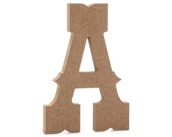 6 Old English Wooden Letter S 6 inch, S JoePauls Crafts Premium MDF Wood Wall Letters