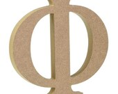 Wooden Greek Letters - Fraternity sorority - Premium Mdf Wood Letters