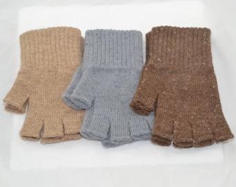 Alpaca gloves - Fingerless/Texting - Large