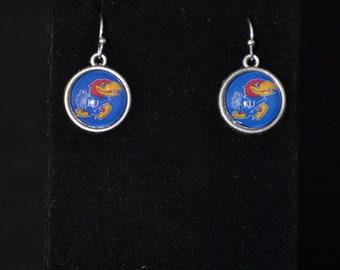 Kansas Jayhawks Pierced Earrings