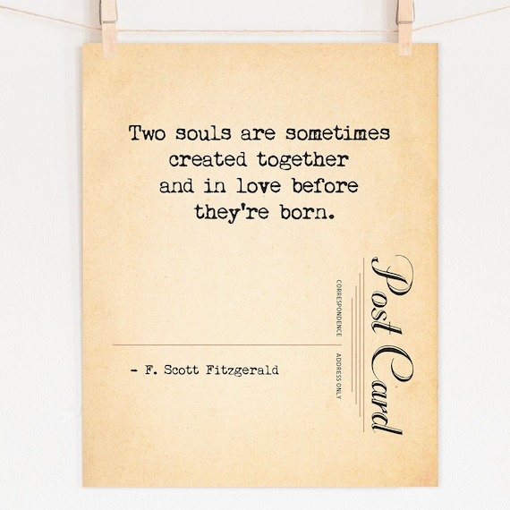 F Scott Fitzgerald Love Quote Print Romantic Paper First Etsy