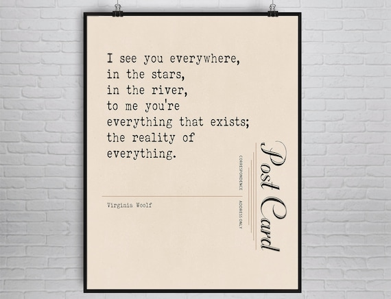 Virginia Woolf Quote Print Literary Art Poetic Love Quote Etsy