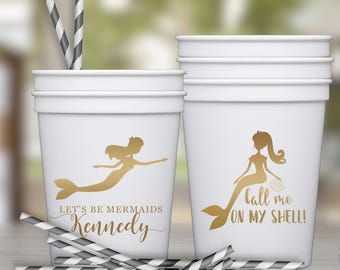 Mermaid Party | Customizable Plastic Cups | social graces and Co