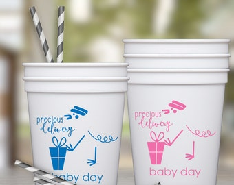 Stork Baby Shower Party Favor Cups | social graces and Co.