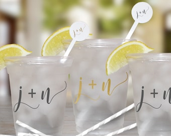 Wedding Party Personalized Disposable Cups