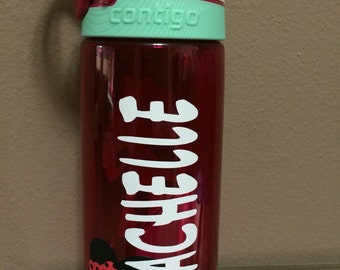 Disney Up!! With this Contigo 20oz water Bottle that can be personalized with your name and Disney character of choice.