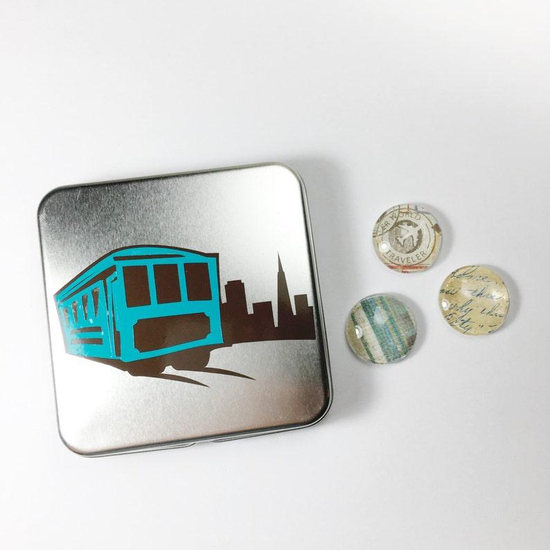 Vintage Travel Magnets  Travel Gifts  Fridge Magnets  Magnet Set