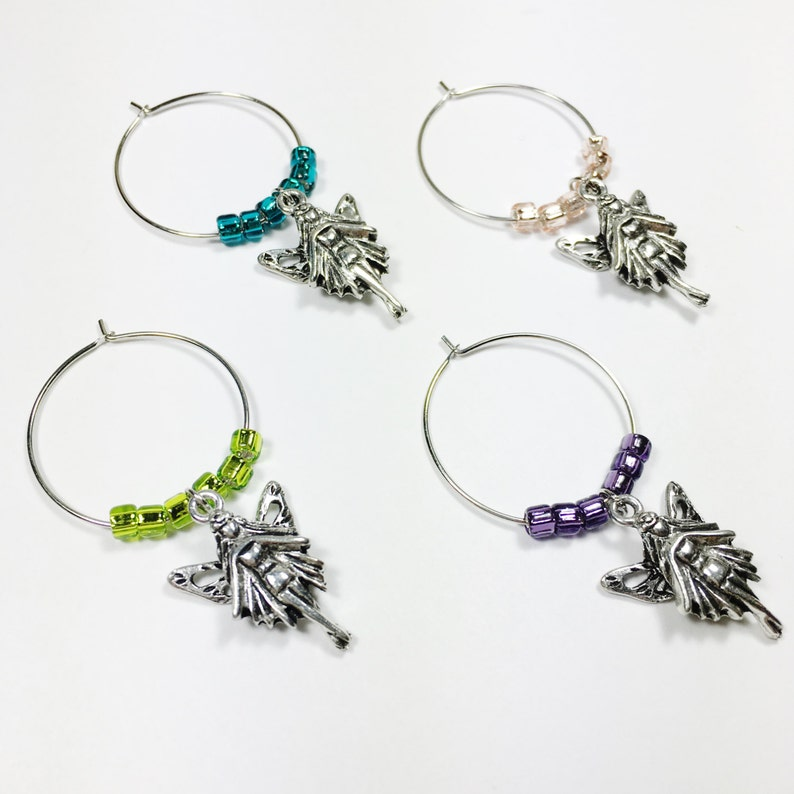 Fairy Wine Charms  Unique Wine Gifts  Gardener Gift  Hostess Gift