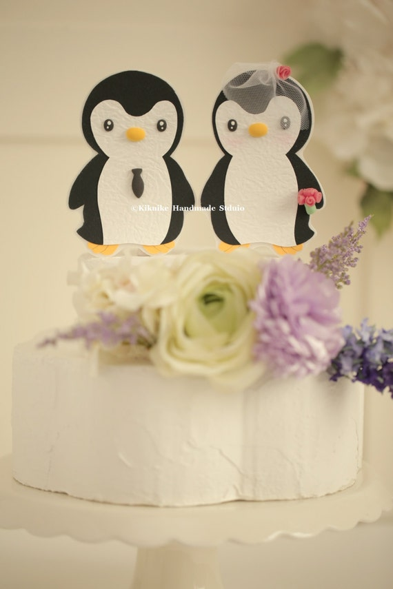 Penguins Wedding Cake TopperCustom Penguins Wedding cake | Etsy