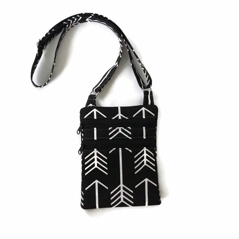 Black Imani Mini Block Shoulder Bag