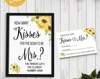 photo relating to How Many Kisses for the Soon to Be Mrs Free Printable named How a lot of kisses Etsy