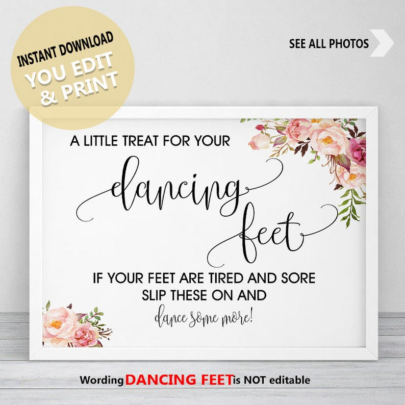 19f010c30eebe1 Dancing Shoes Sign Dancing Feet Sign Wedding Dancing Shoes