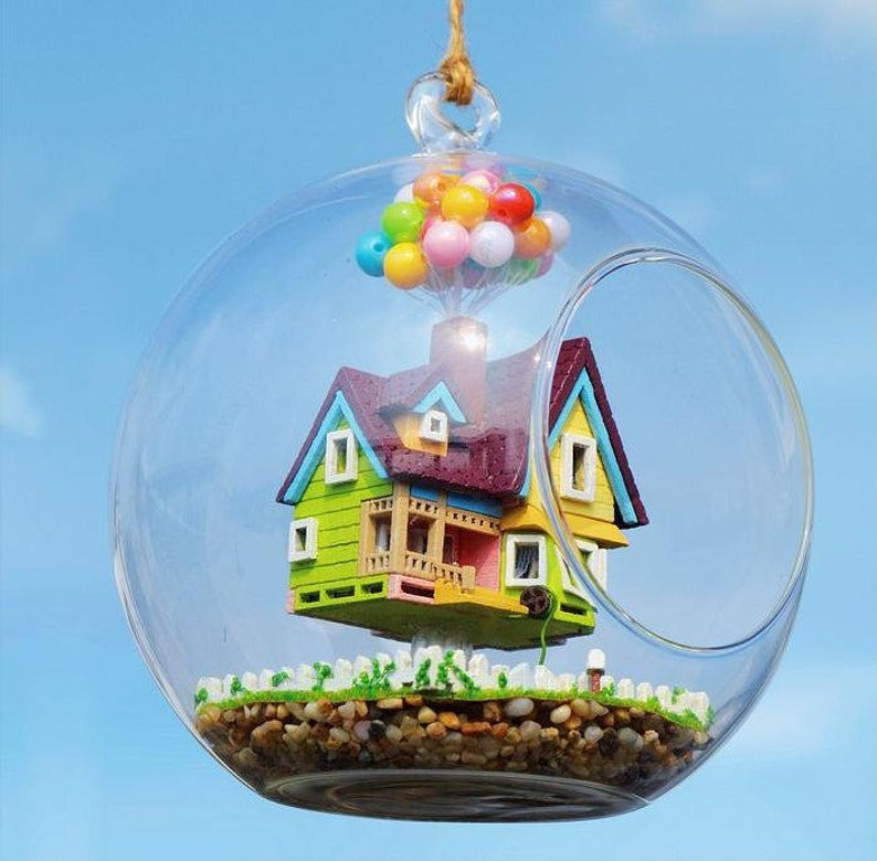 Sale 12cm Hanging Glass Terrarium Kit DIY UP Glass House image 0