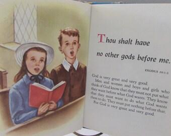 Vintage (1950s) children's book, 'The Ten Commandments',  Rand McNally & Company,  Chicago