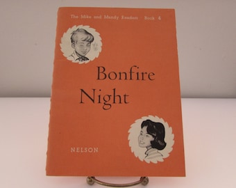 Vintage (1950s) children's book, The Mike and Mandy Readers, Book 4 'Bonfire Night' by Marjorie Durward