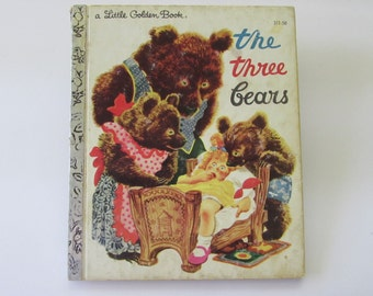 Vintage (1970s) children's book, 'the three bears',  a Little Golden Book, illustrated by F. Rojankovsky