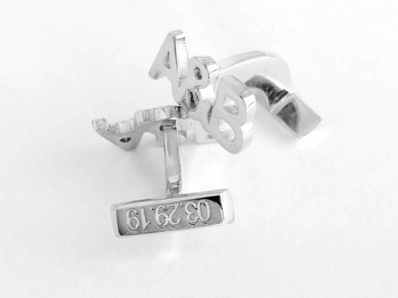 Gift for Him Wedding Cufflinks Groom,Personalized Mens Cuffinks with Date Custom Groom Cufflinks Personalized Monogram Initials Cufflinks