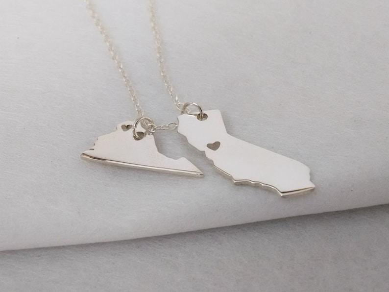 West Virginia Necklace \u2022 State Necklace \u2022 West Virginia State Necklace \u2022 Home State Necklace \u2022 Personalized State Necklace