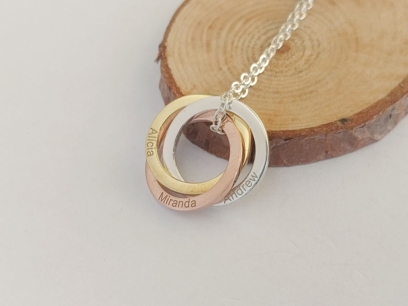 50 Gift Ideas for Mums | PERSONALISED RUSSIAN RING NECKLACE | Beanstalk Mums