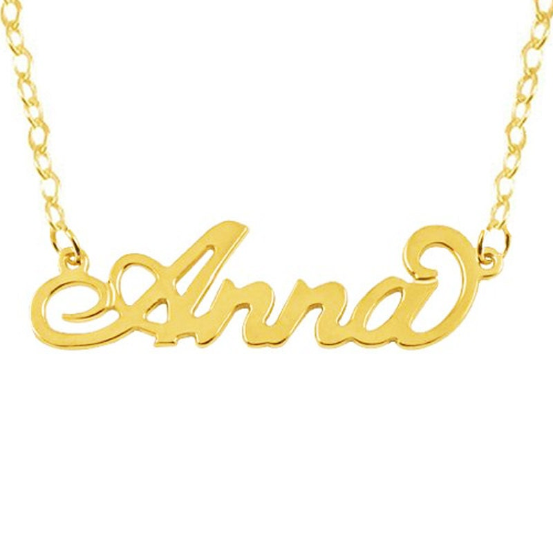 Any Name Necklace, Carrie Name Necklace,Script Name Necklace,Name on  Necklace,Personalized Gold Name Necklace,Customized Jewelry