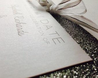 Modern Glitter Save-The-Date // New Years Eve Wedding