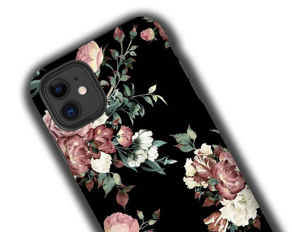 iPhone 11 Samsung Galaxy S10 Roses dark floral iphone 8 case iPhone xs iPhone 7 Samsung Galaxy S20 Galaxy Note 8 floral Samsung GalaxyNote 9