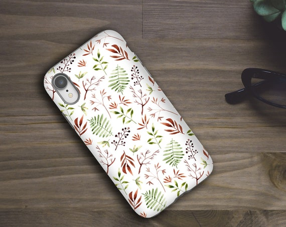 Autumn leaves iPhone 11 case, Fall leaves Samsung Galaxy S10 5G, iPhone 8, iPhone XR, Galaxy Note 9, minimalist phone case, iPhone xs max