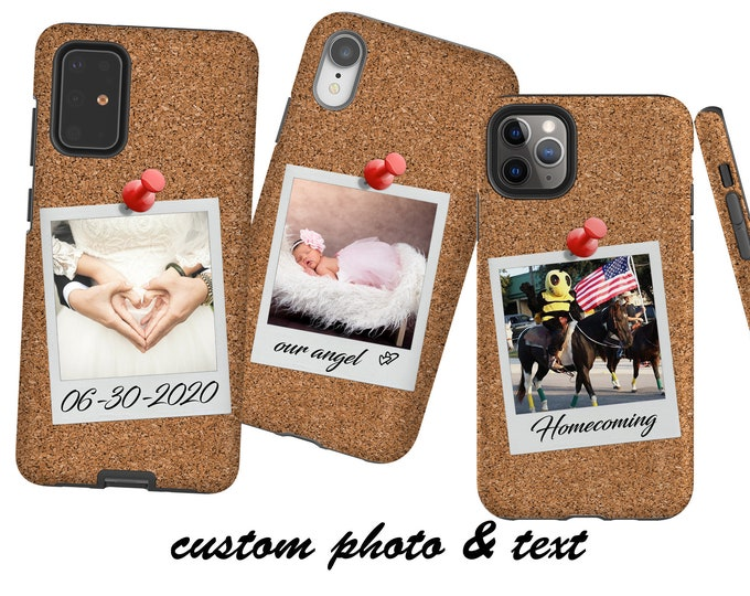 Custom Your Own Photo Polaroid iPhone 12 case, Samsung Galaxy S20 iPhone XR, iPhone SE iPhone 11 Samsung Galaxy S10 Galaxy 20 Galaxy Note 20
