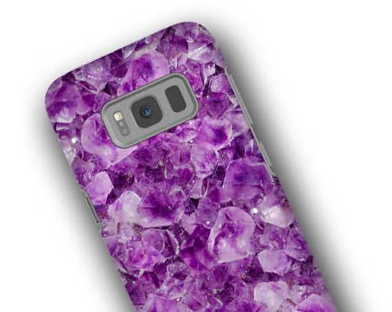 Purple Amethyst iPhone 11 Samsung Galaxy S10 case, iPhone XR, iPhone xs max, iPhone X, Samsung Note 9, iPhone 8 plus, Iphone 8, Galaxy S8