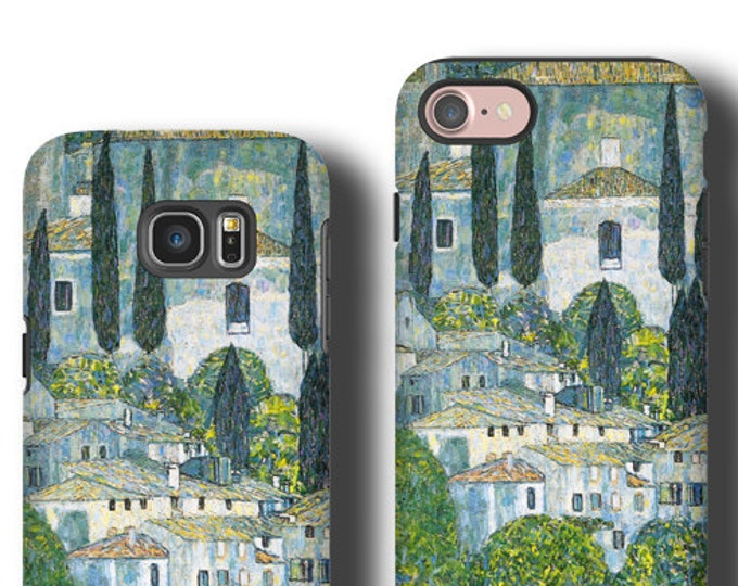 Gustav Klimt Church in Cassone iPhone 12 case iphone XR iPhone 11 Pro Max Samsung Galaxy S20 Plus Galaxy S10 Galaxy Note 10 plus Galaxy S8