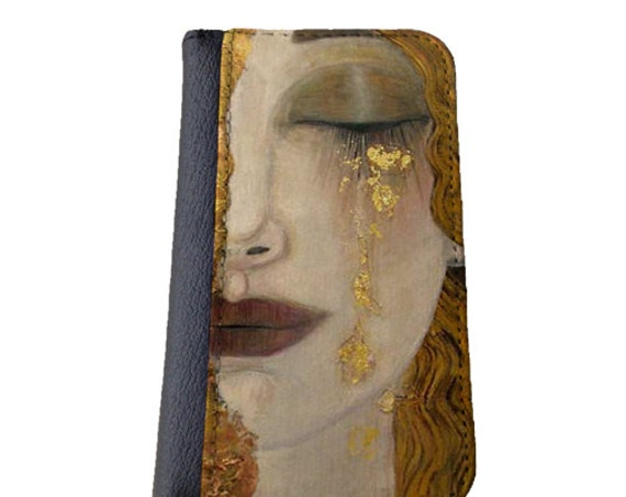 Gustav Klimt Golden Tears Galaxy S4 wallet case Samsung Galaxy Note 4 iPhone 6s iPhone 5C Galaxy S6 Edge Galaxy S5 iPhone 6s Plus Galaxy S6
