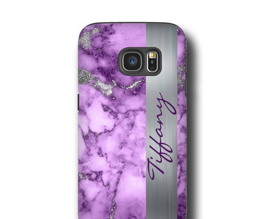 Purple silver marble iPhone 11 Case, iPhone xr, Galaxy S20, iPhone 8 Plus, Case, Galaxy S7 Edge Case, Personalized, Galaxy S10 E, iPhone XS