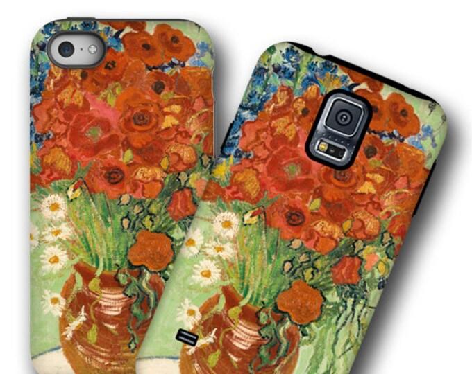 Poppy cornflower van Gogh iPhone 12 case iPhone 11 Galaxy Note 20 Plus iPhone XR Samsung S8 iPhone XS iPhone 7 Plus Galaxy S21 Galaxy Note 9