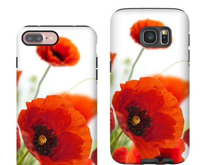 Samsung Galaxy S21 Red Poppy iPhone 12 Pro Max case iPhone XR Galaxy Note 20 Ultra iPhone 7 Plus iPhone SE(2020) iPhone 12 mini, Galaxy S20