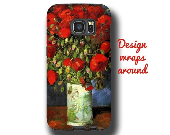 Van Gogh iPhone 11 iPhone 8 Galaxy S10 Samsung Galaxy S20 Samsung Galaxy Note 9 iPhone 7 iPhone Xs max Galaxy S9 Samsung Note 10 red poppies
