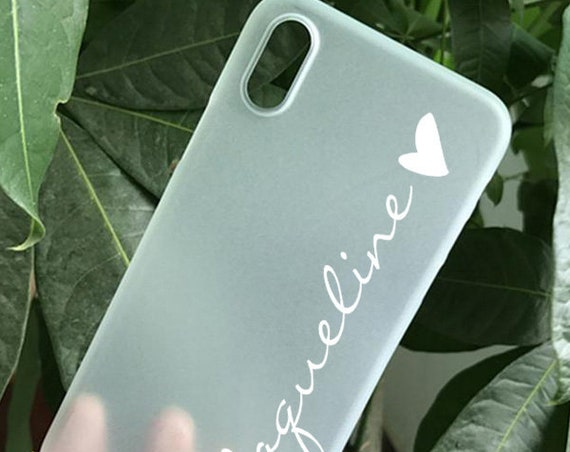 transparent frosted iPhone 11 case name heart iPhone 8 Plus Galaxy S20 iPhone X iPhone 7 iPhone XR Samsung Galaxy S10 Plus Galaxy S8 rubber