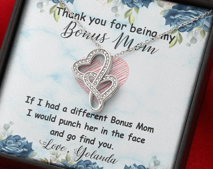 Thank you for being my Bonus Mom Necklace, different styles available, Step Mom Gift, Christmas gift for Foster Mom, Gift from Stepdaughter