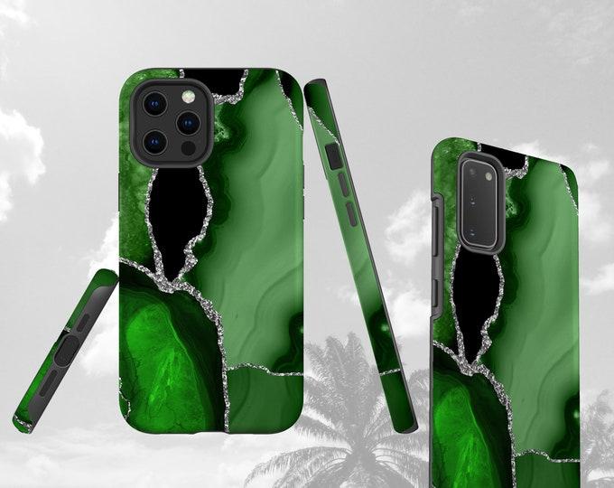Green Agate stone iPhone 12 Mini case Galaxy S20 Plus iPhone 11 Pro Max iPhone XR Samsung Galaxy Note 20 Ultra Galaxy S10 Galaxy S8 Plus