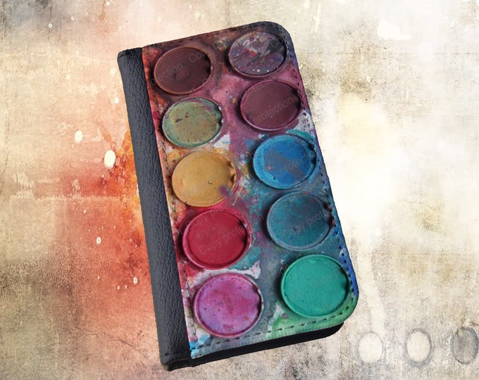 Paintbox Water color box iPhone 6 case artsy watercolor palette Samsung Galaxy S6 Note 4 iPhone 5c wallet case iPhone 6s case iPhone 6Plus