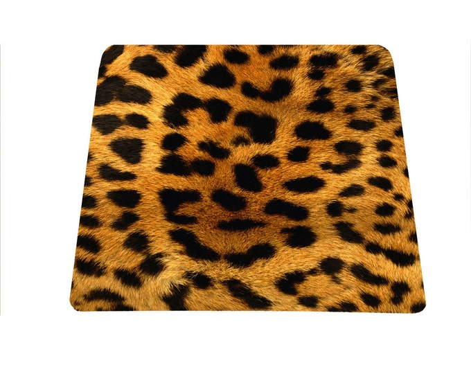 Leopard print mouse pad, Animal print mousepad, Cheetah Print Desk Accessories, Cute Mouse Pad, Cute Office Decor, Office Desk Decor