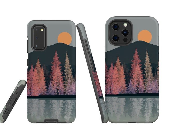 Mountain Sunset at the Lake iPhone 12 case iPhone XS Samsung Galaxy S21 iPhone 11 Pro Max iPhone XR Galaxy Note 20 iPhone 7 iPhone 12 Pro