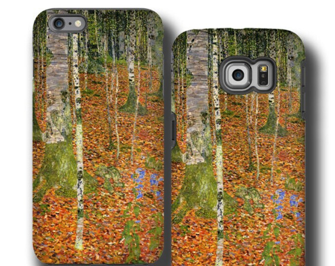 Gustav Klimt Birch Trees iPhone 11 Samsung Galaxy S10 case iphone SE iPhone 6s iPhone 7 plus iPhone 8 cover Samsung Galaxy S20plus iPhone 12
