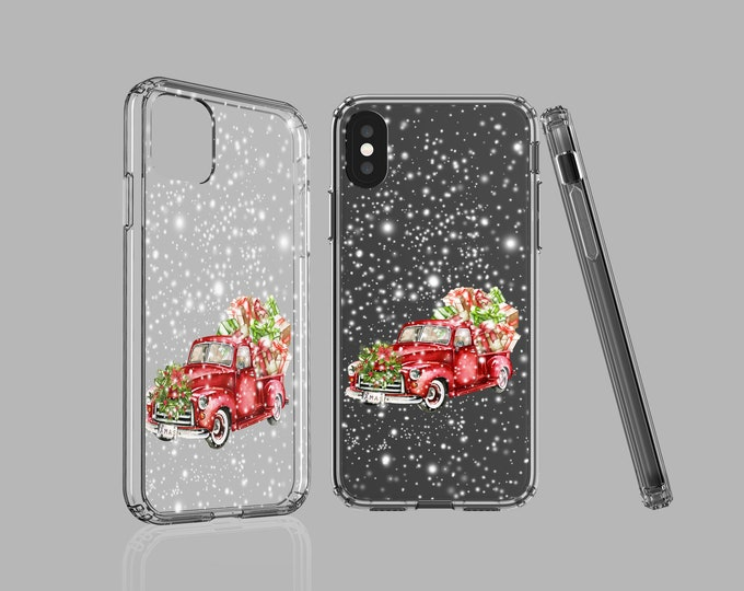 Christmas iPhone 12 case, Red Truck Samsung Galaxy Note 20 Ultra, iPhone 11 Pro Max, iPhone XS, iPhone XR, Galaxy S9, iPhone 8 plus iPhone 7